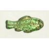 Glass Bead Fish 28x13mm Peridot Gold Strung